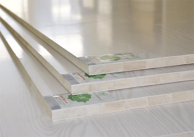 E1级三聚氰胺双贴面木工生态板亚光面(白对花)